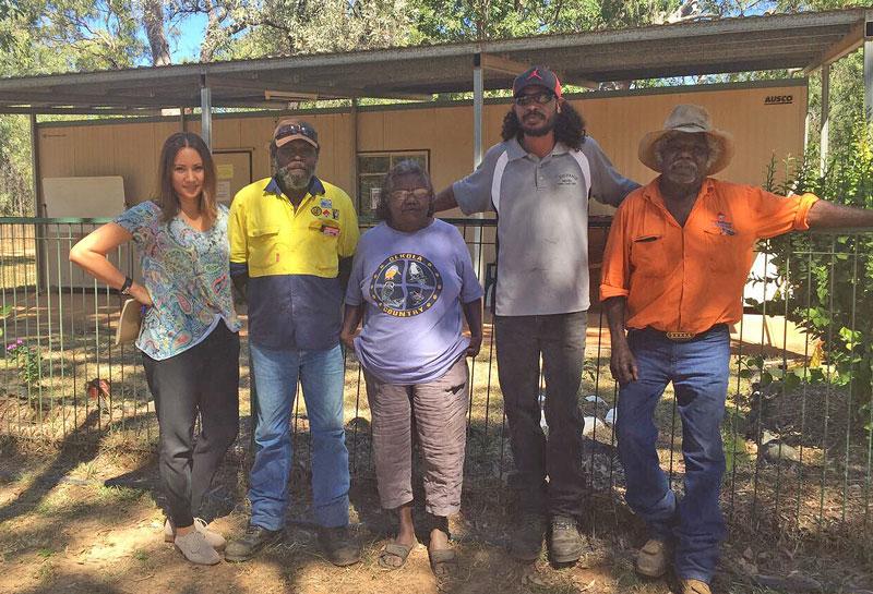 Bridget Centenera and directors of Ang-Gnarra Aboriginal Corporation of Laura