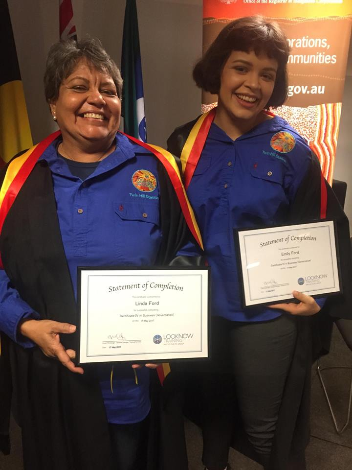 Linda Ford and Emily Ford graduating with a Certificate IV in Business (Governance)
