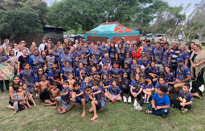Bundjalung community celebrating their native title determination on 30 April 2019