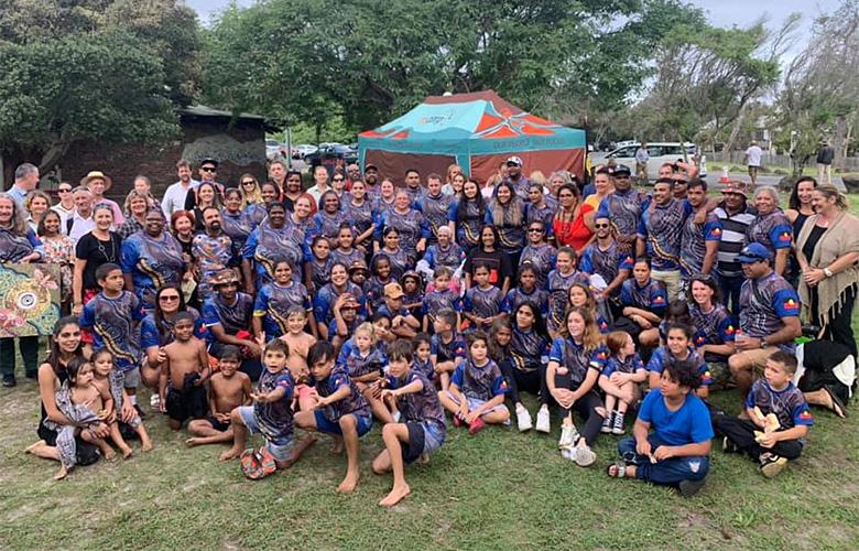 Bundjalung community celebrating their native title determination on 30 April 2019