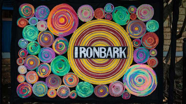 Handmade banner for Ironbark Aboriginal Corporation