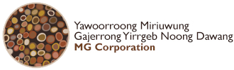 Logo for MG Corporation
