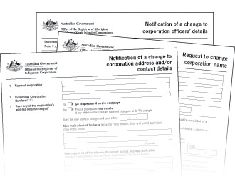 Changing your corporation's details image