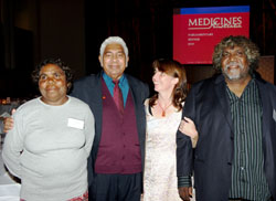 WDNWPT Chair Marlene Nampitjinpa Spencer, Jimmy Little, Manager Sarah Brown and Deputy Chair Bobby West Tjupurrula