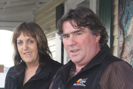 Circular Head Aboriginal Corporation management team employee Dianne Baldock with chairperson Graeme Heald