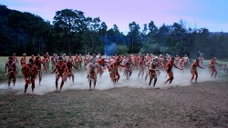 Dancers taking part in the 20-year anniversary of the Wollombi Corroboree in October last year
