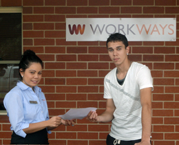 Tara Bowen registers Kenneth Morgan for the traineeship program.