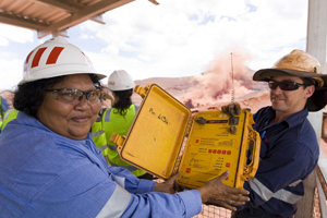 AAC chairperson, Doreen James, blasting at Tom Price mine