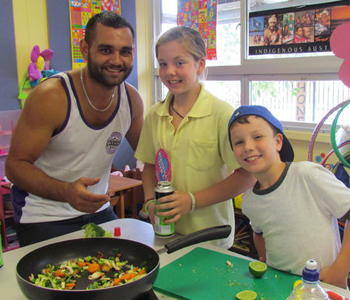 Cooking class in session, Toukley Public School.