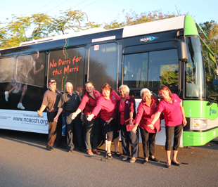 NCACCH directors with the 'No Durri for this Murri' bus.