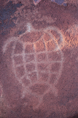 An example of rock art on the Burrup Peninsula. Photo: Courtesy of Murujuga Aboriginal Corporation