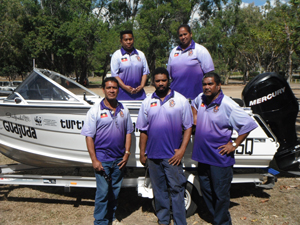 Part of the team—many of the corporation's members are involved in turtle observation and monitoring. Photo: Gudjuda Reference Group Aboriginal Corporation