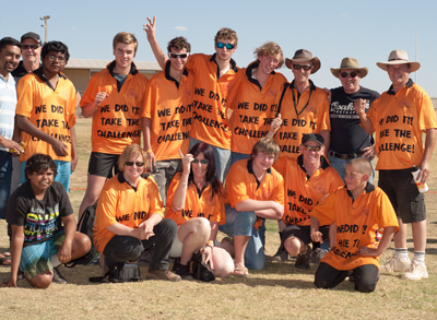 Photo: The COBRA team: Wearing their 'We did it! Take the challenge' t-shirts. Photo courtesy UTHSAC