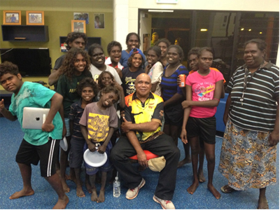 A recent family night at DRC during a visit from music legend Archie Roach