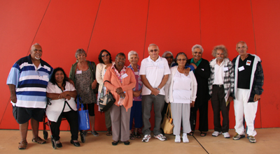 Some of the former residents together at the National Museum of Australia