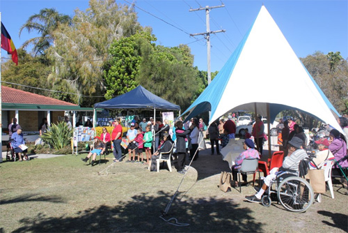 The community celebrating NAIDOC day 2014