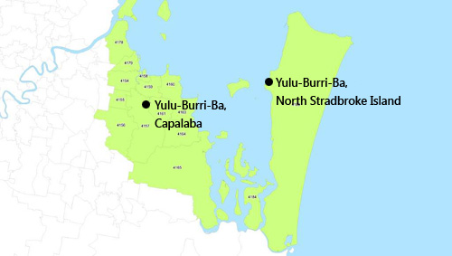 Map showing location of Yulu-Burri-Ba