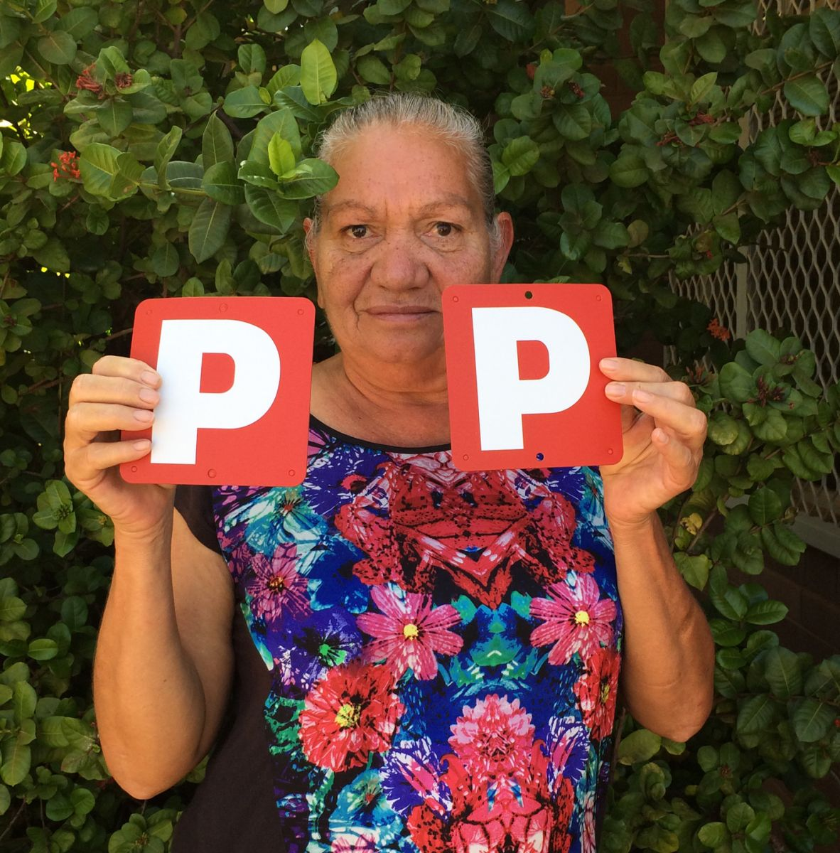 Mrs Nellie Connors, with her recently acquired 'Ps'