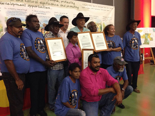 Olkola people hand back tenure ceremony