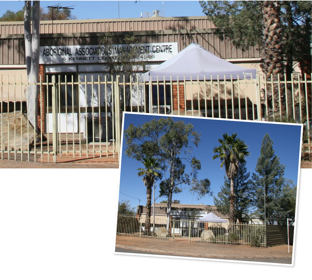 The office—Aboriginal Associations Management Centre (AAMC), 6 Kennett Circuit, Alice Springs