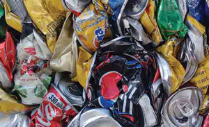 used softdrink cans
