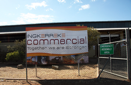 Sign of Ingkerre commercial