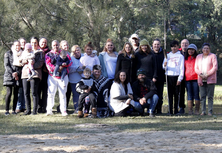 Darug traditional custodians at a cultural camp in Parramatta, June 2018