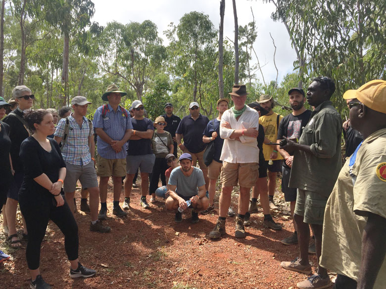Dhimurru ranger hosting a 'Learning on country' walk as part of the Garma festival 2019