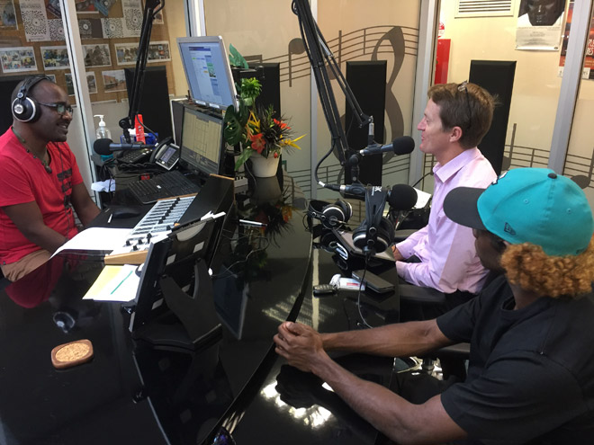 Registrar Anthony Beven being interviewed in the TEABBA studio in Darwin