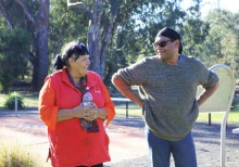 Aileen Allan with celebrity Indigenous chef Mark Olive