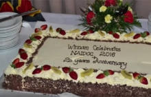 Cake celebrating 25 years of Winnam Aboriginal Corporation