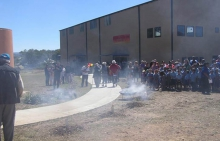 Smoking ceremony for a new school building