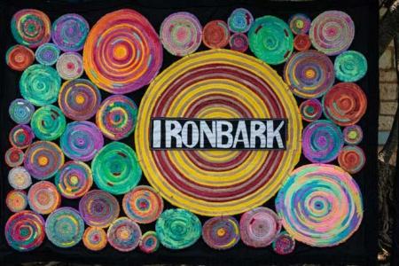 Handmade banner for Ironbark Aboriginal Corporation